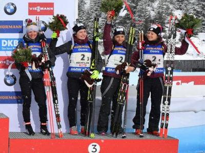 résultats relais biathlon
